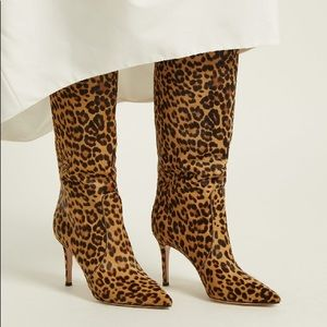 New Gianvito Rossi Knee High Boots Leopard Print